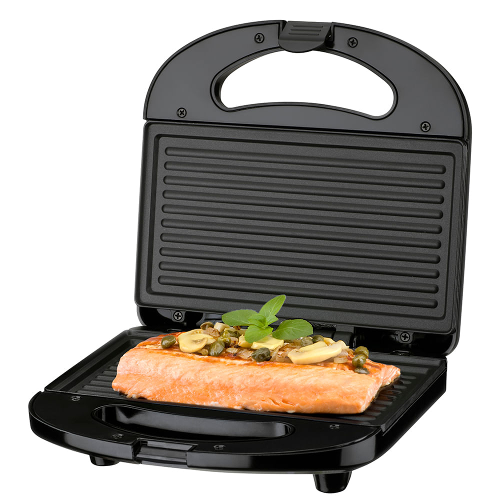 Sanduicheira Grill Cadence Preta Carnes Peixes Hamburguer
