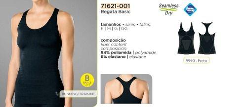 Regata Basic Lupo Sport Sem Costura Dry 71621-001.