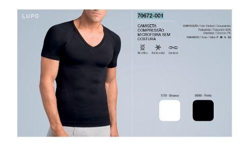 Camiseta Modeladora Compressão Microfibra Lupo 70672-001