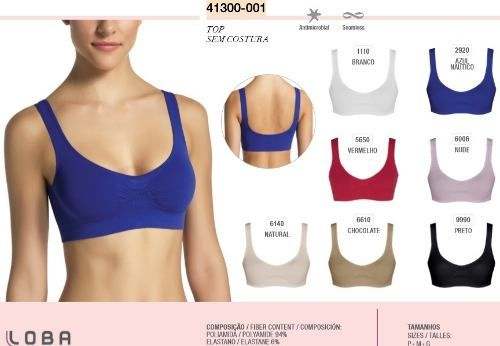 Top Lupo Sem Costura Lingerie Antimicrobial 41300-001