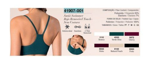 Sutiã Loba Swimmer Bojo Removível Touch+lupo 41907-001