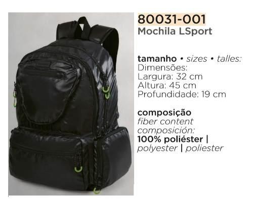 Mochila Lupo Lsport Conforto 80031-001
