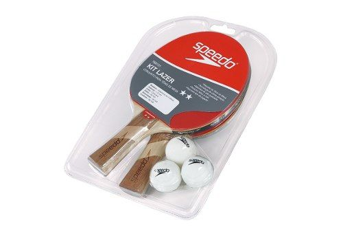 Kit Lazer Speedo Tênis De Mesa  2 Raquetes E 3 Bolas 768101