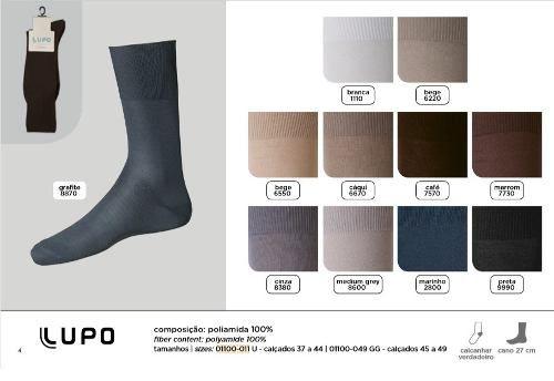 Kit 10 Pares Meias Sociais Clássica Plus 37/49 Lupo Promoção 1100-011