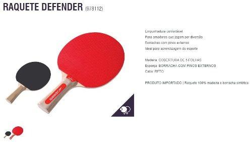 Raquete Para Tênis De Mesa Defender 5 Folhas Speedo 978112