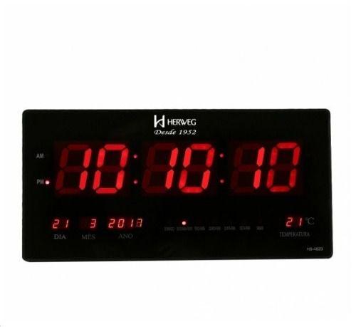 Relógio De Parede Digital Calendário Led Termômetro 6464