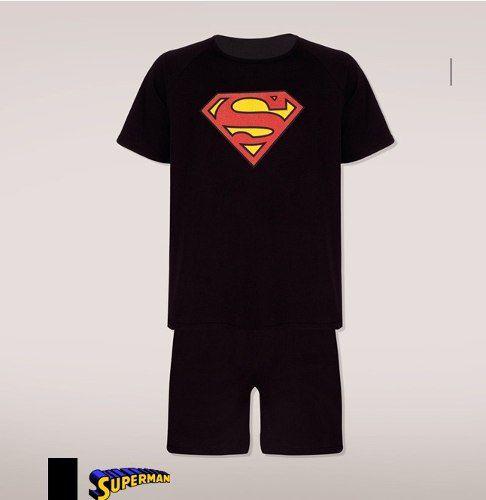 Pijama Super Man Am Lupo Urban 100% Algodão 16928-001