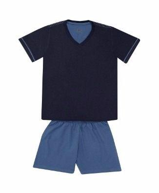 Pijama Masculino Manga Curta Lupo Algodão Plus 28000-001