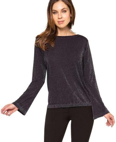 Blusa Lurex Loba Trend Sem Costura Lupo 45202-001