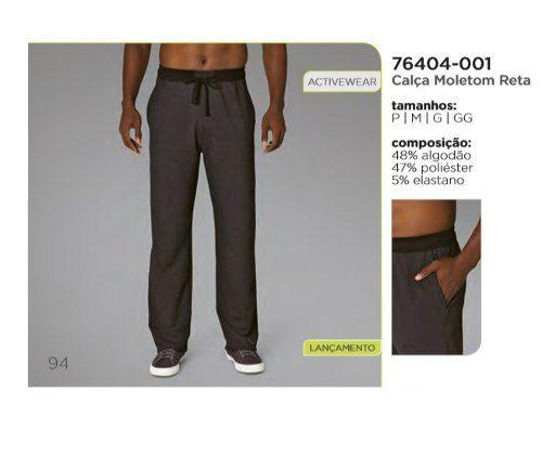 Calça Moletom Reta Lupo 76404-001