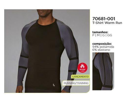 Camiseta Térmica Inverno Warm Run Isolamento Térmico 70681.