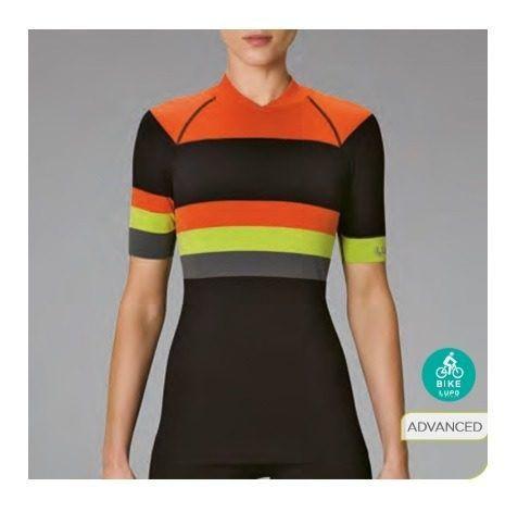 Camiseta Ciclismo Feminina Manga Curta Ls Bike Laranja 71640-001