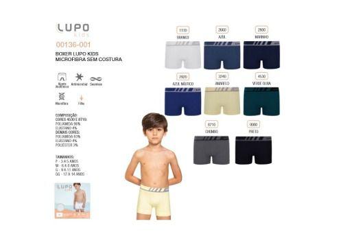 Kit 3 Cueca Lupo Kids Infantil Boxer Microfibra 136-001