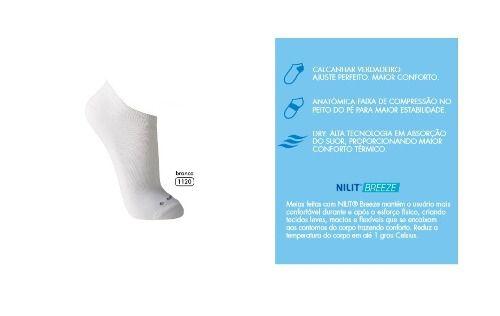 Kit 3 Meias Efeito Refrescante Proteção Uv50+ Lupo 3272-001