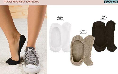 Meia Lupo Sapatilha Algodão 33 A 44 Socks Feminina 4932-001/3287-001