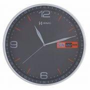 Relógio Parede Cinza Pulso Calendário Herweg 6415