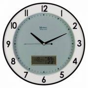 Relógio Parede 35 Cm Termohigrometro Herweg Silencioso 6805