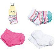 Kit 3 Meias Baby Lupo Bebe Recém Nascido Menina 2000-089/2000-989