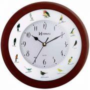 Relógio Parede Canto De Pássaros Brasileiros Herweg 6370