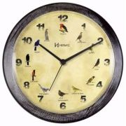 Relógio Parede Canto De Pássaros Brasileiros Herweg 6658