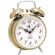 Despertador A Corda Herweg  Alarme Forte  Dourado 2380