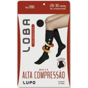 Meia 3/4 Lupo Alta Compressão Feminina Fio 280 Varizes 59900-002