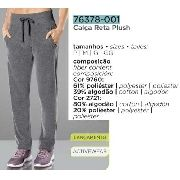Calça Reta Plush Lupo Sport Activewear Fashion 76378-001.
