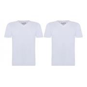 Kit 2 Camiseta Lupo Branca Básica Algodão Elastano 70676-001