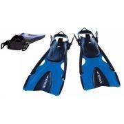 Nadadeira Regulável Speedo Delta Fin Azul  P Ao G