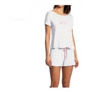 Pijama Feminino Coração 100% Algodão Short Doll Lupo 24342-001