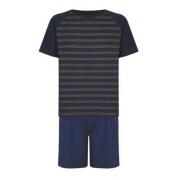 Pijama Manga Curta Algodão Clássico Listra Algodão 28145-001