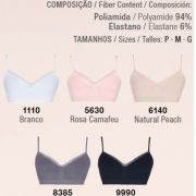 Sutiã Angel Lupo Top Loba Trend Sem Costura Renda 41260-003