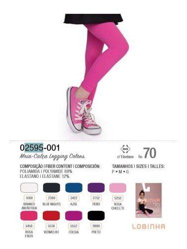 Meia Calça Infantil Lobinha Legging Colors Fio 70 Lupo 2595-001