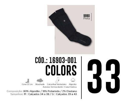 1 Par De Meia Urban Colors Cano Longo Lupo Algodão 16903-001