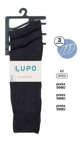 Kit 3 Meia Social Sportwear Ultrasoft Algodão Lupo 1725-089