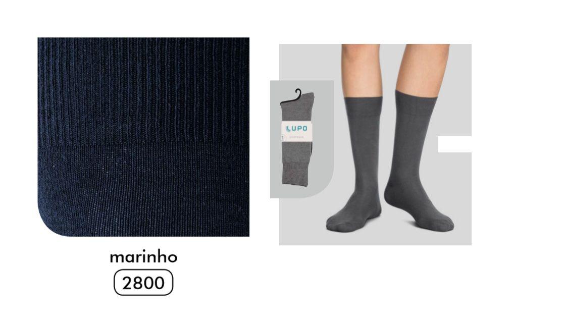 1 Par Meia Social Sportwear Ultrasoft Algodão Lupo 1725-001