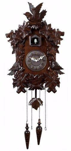 Relógio De Parede Cuco Madeira Herweg Sensor Noturno 5386