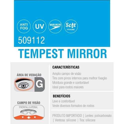 Óculos Tempest Mirror Speedo  Natação Aquático 509112