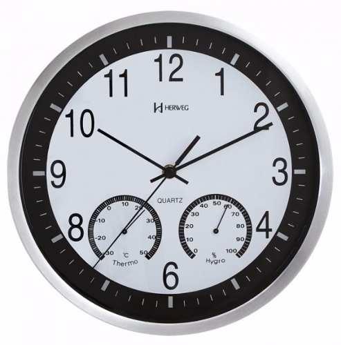 Relógio Parede Herweg Termometro Higrometro 6416