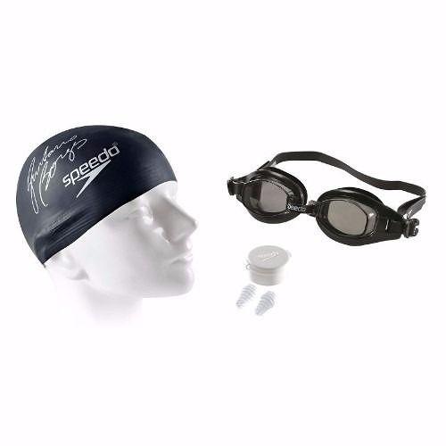 Kit 3 Em 1 Speedo Swim Kit 2.0 Natação Tampão Touca Óculos 509173