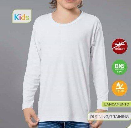 Camiseta Repelente Infantil Unissex Manga Longa Lupo Uv 50+ 77033-001.