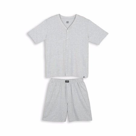 Pijama Masculino Manga Curta Lupo Camisa Com Botão 28064-001