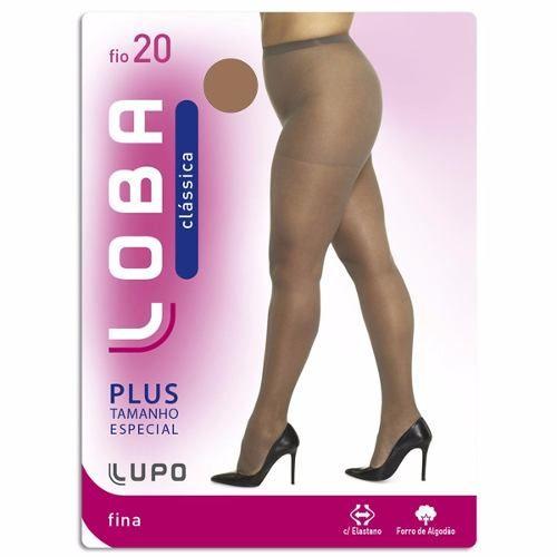 Meia Calça Classica Fio 20 Loba Plus Size Especial Até 120kg 5795-001
