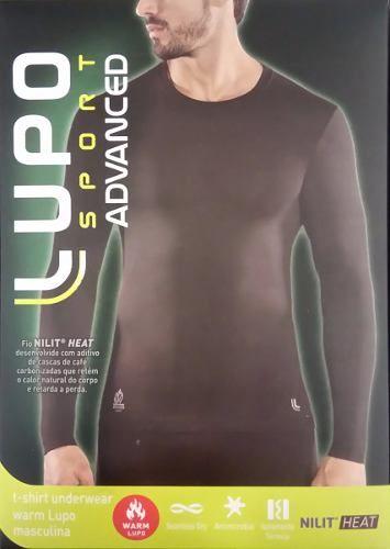 Camiseta Térmica Manga Longa Warm Lupo Sport Nilit Heat Masculina 70661-001