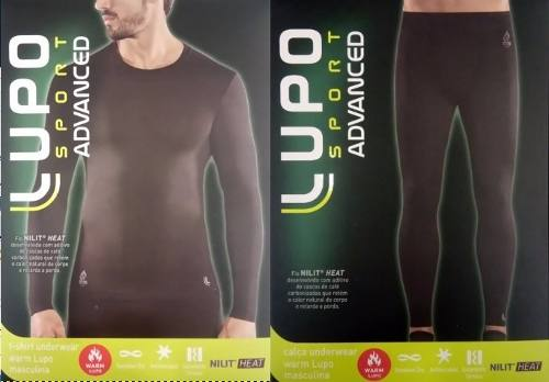 Conjunto Térmico Warm Lupo Sport Isolamento Nilit Heat ADVANCED Masculino 70054-001 70661-001