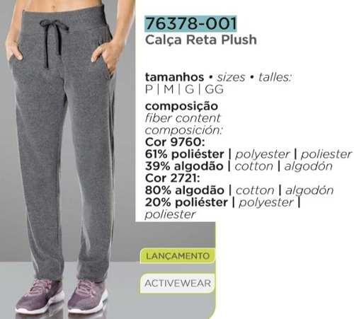 Calça Reta Plush Lupo Sport Activewear Fashion 76378-001