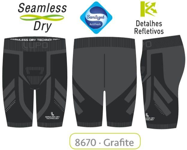 Bermuda Lupo Sport Run Seamless Dry Reflexiva 70058-001.