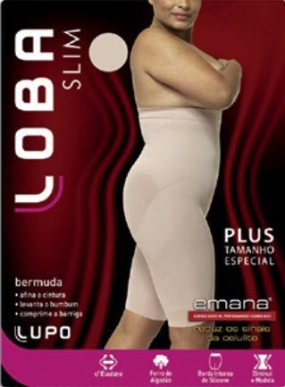 Bermuda Modeladora Lupo Especial Plus Size 50/52 Emana  5698-001.