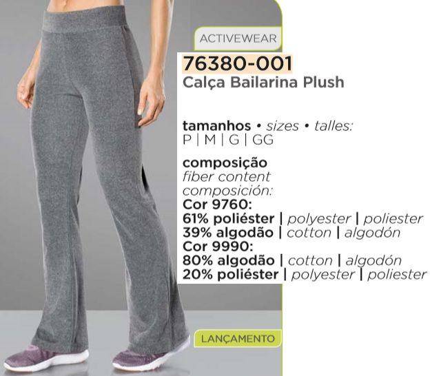 Calça Bailarina Plush Lupo Sport Fashion 76380-001.