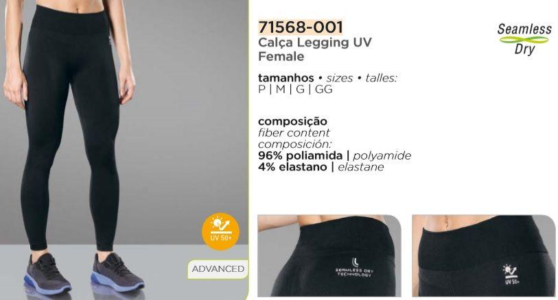 Calça Compressão Lupo Proteção solar Uv 50+ Feminina 71568-001